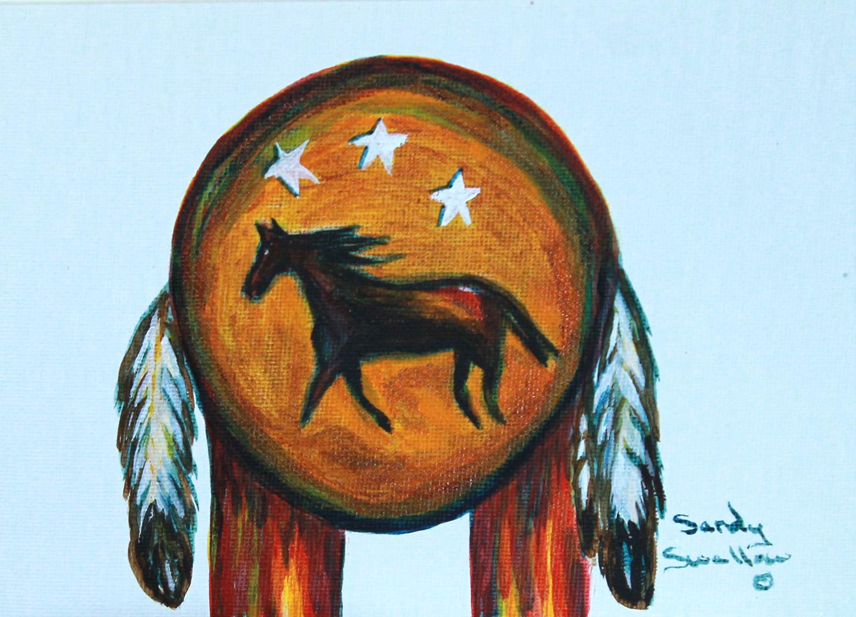 Lakota, War shield, horse,