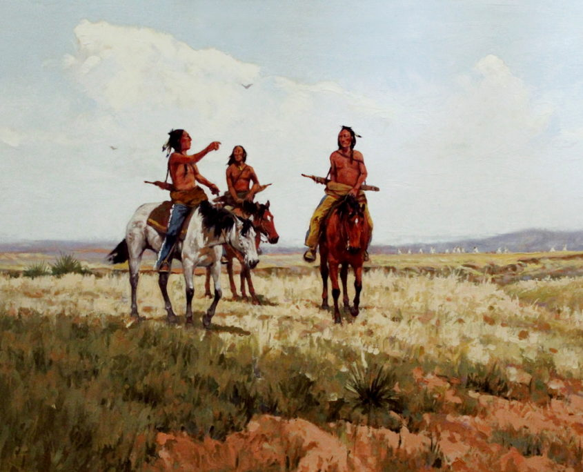 Plains indians on horseback