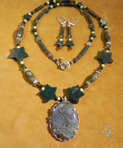 lost wax casting and beaded necklace