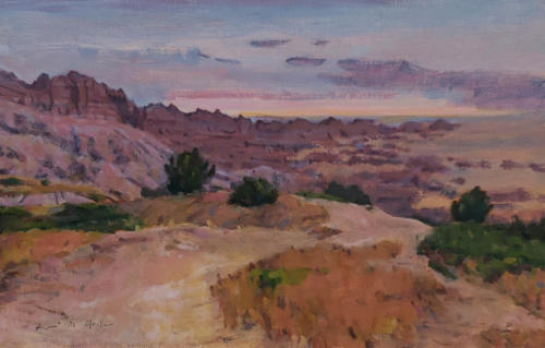 Daybreak in the Badlands